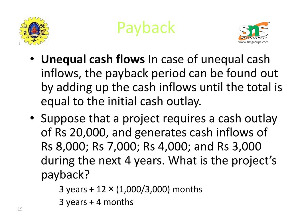 16ba608 Financial Management Ppt Download Cash Pb 20000 Payback