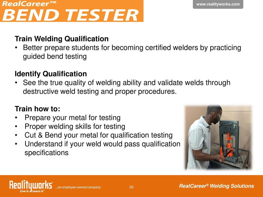 Simulate, Replicate, Evaluate Using RealCareer Welding