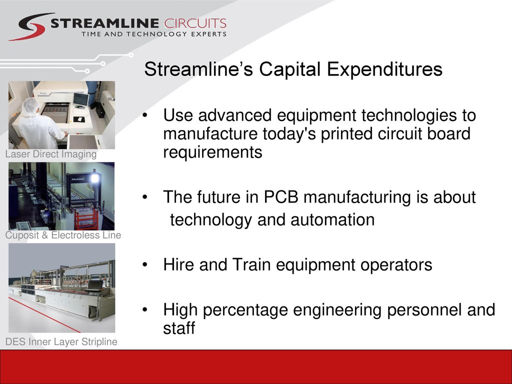 Your Technology Experts Ppt Download Printed Circuit Board Fabrication Single Layer Pcb To High 26 Layers 17 Streamlines Capital Expenditures Use Advanced Equipment Technologies Manufacture Todays