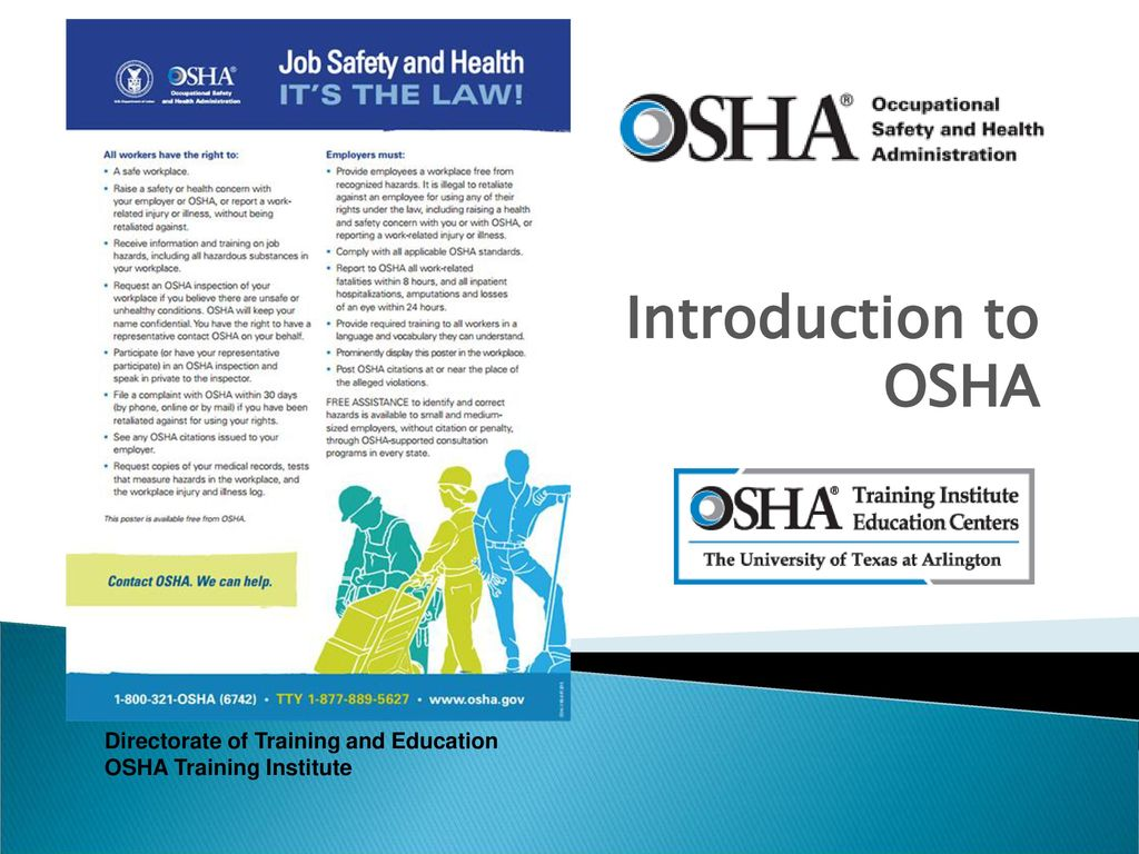 INTRODUCTION TO OSHA Lesson - ppt download