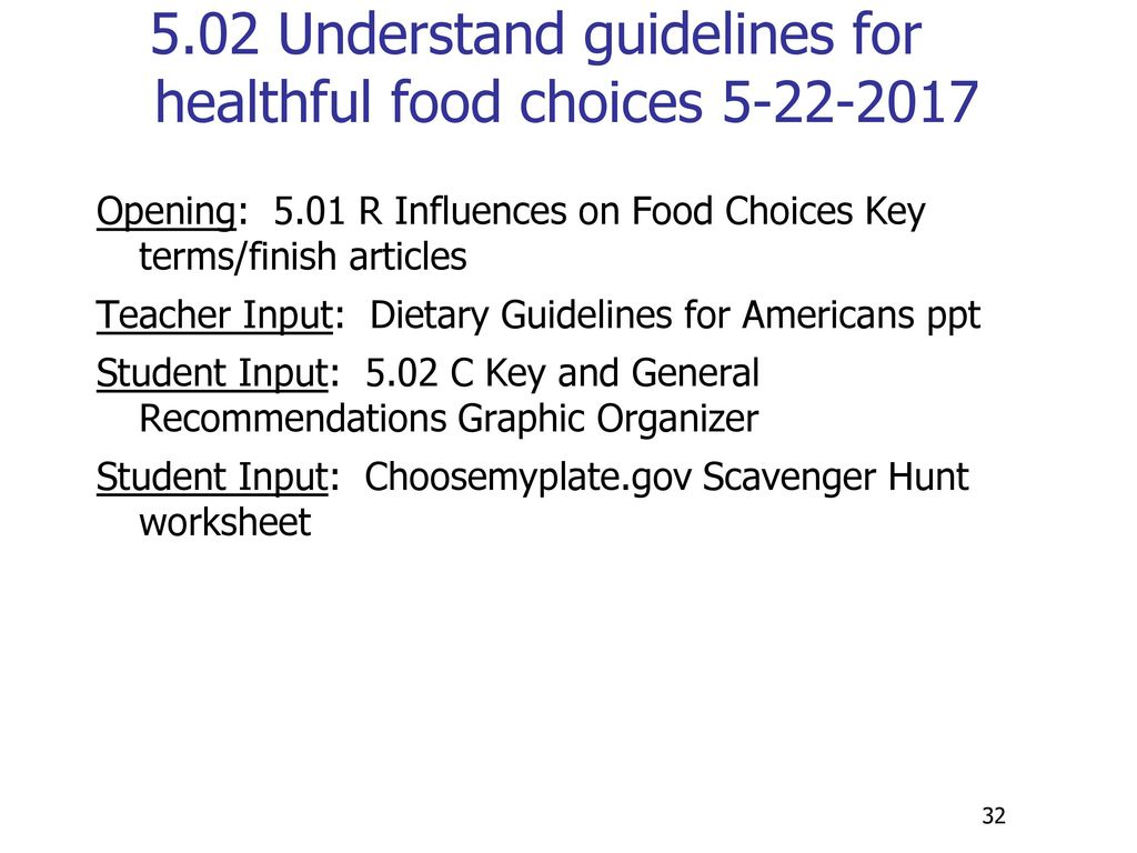 501 Individual Food Choices Ppt Download