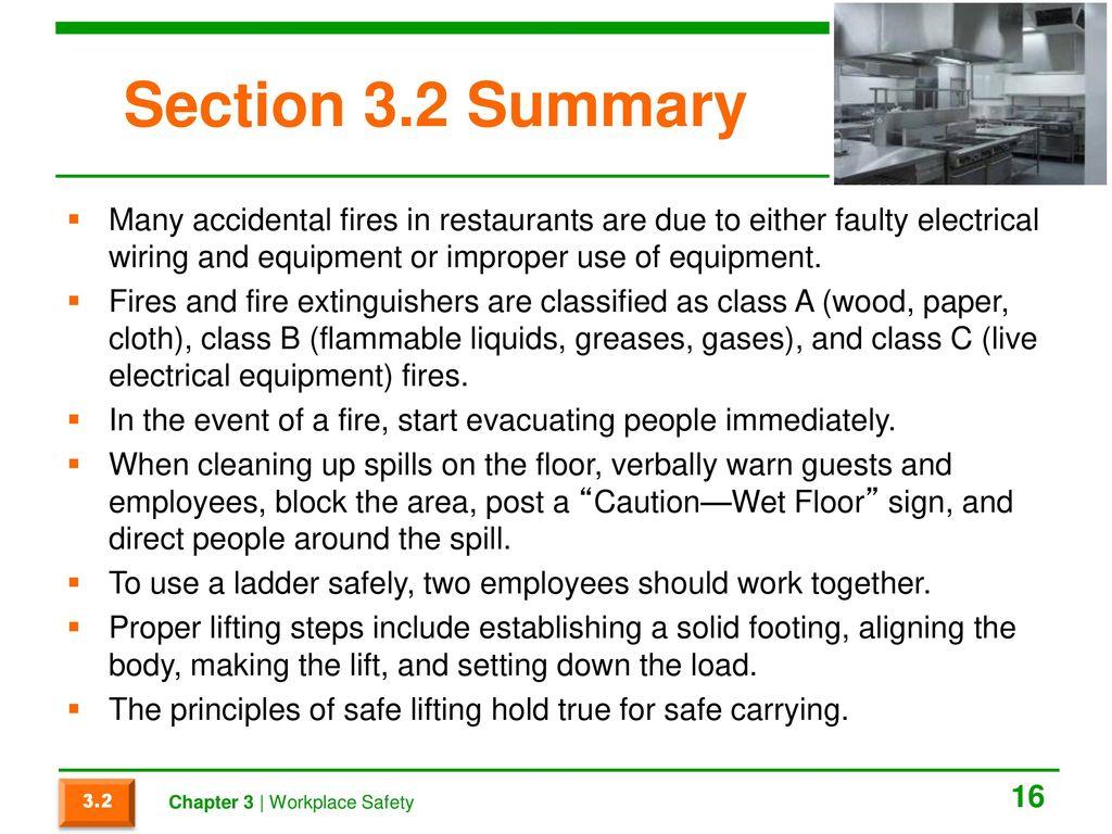 Restaurant Electrical Wiring Safety - WIRE Center •