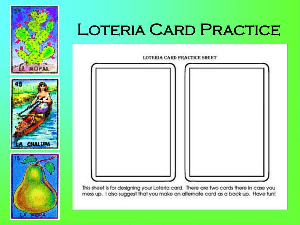 34 Loteria Card Practice