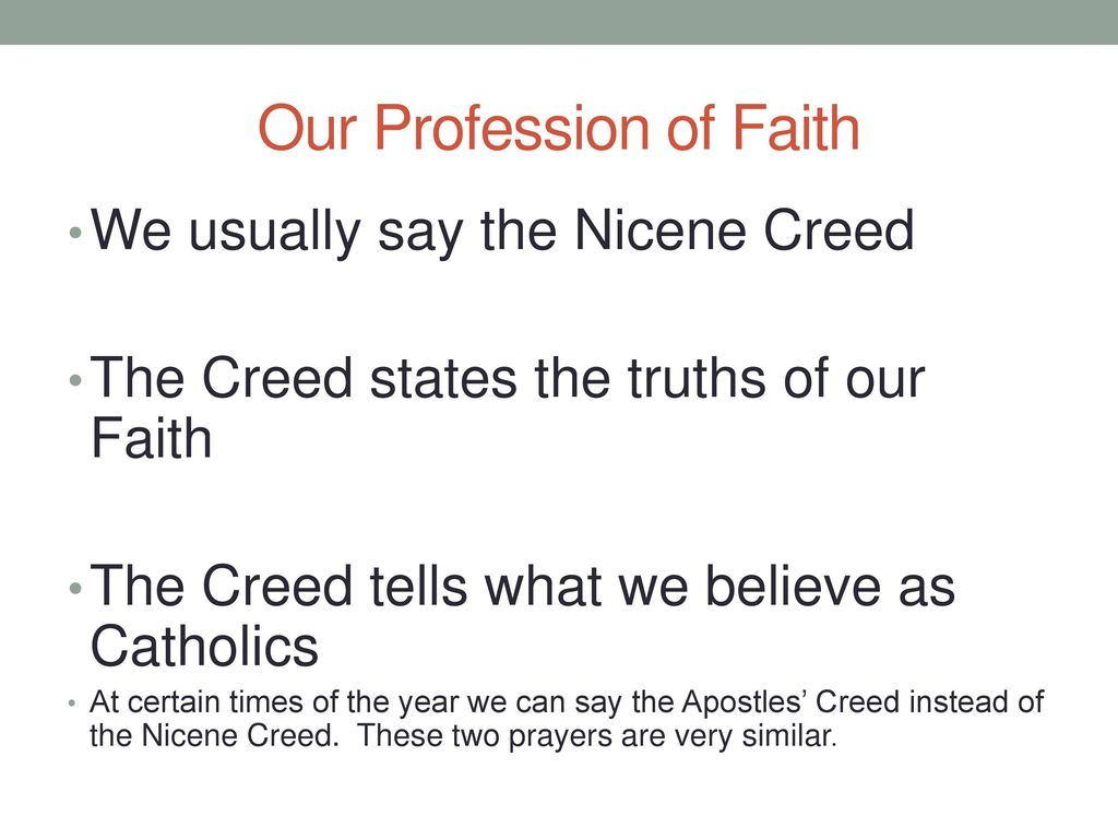 Our Profession of Faith