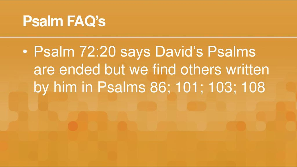 Introduction to the Psalms - ppt download