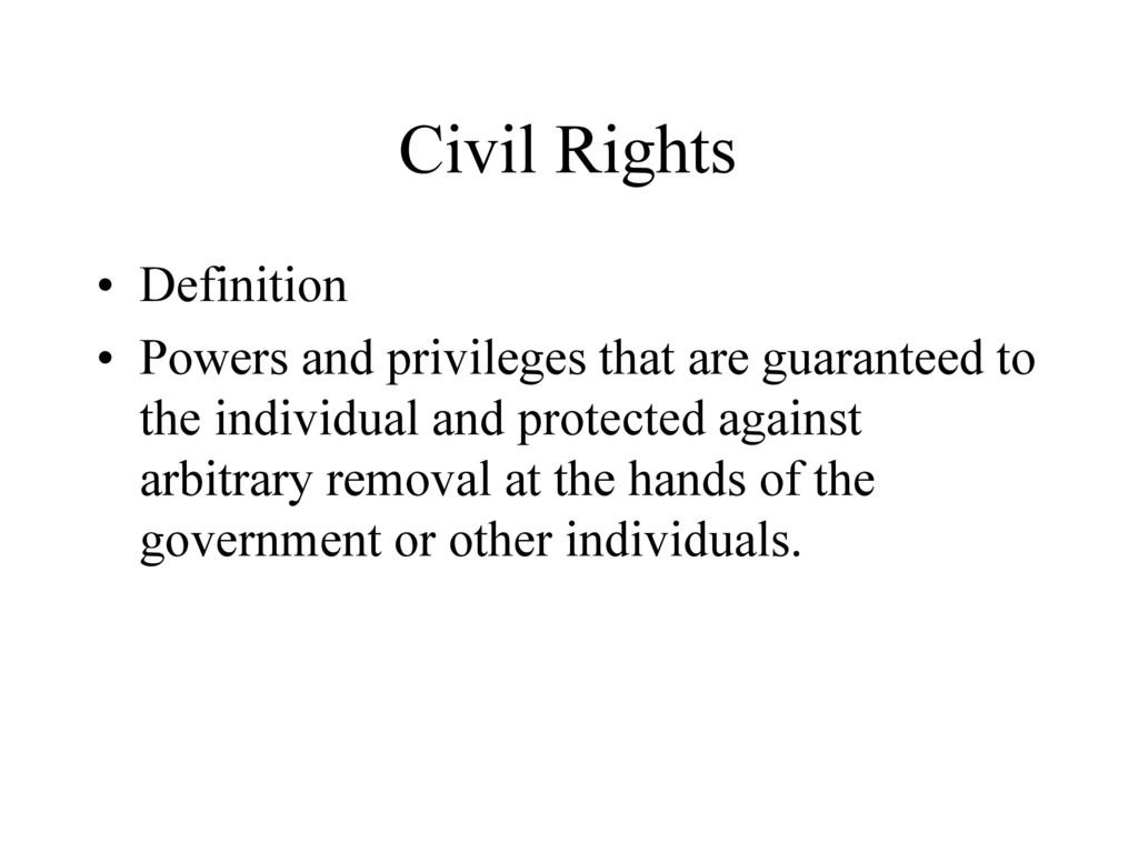 chapter 19 civil rights. - ppt download