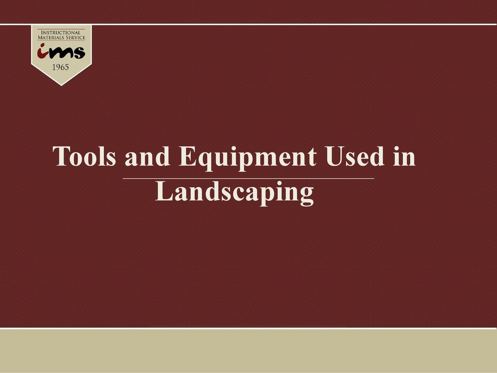 Presentation On Theme Tools And Equipment Used In Landscaping Transcript 1