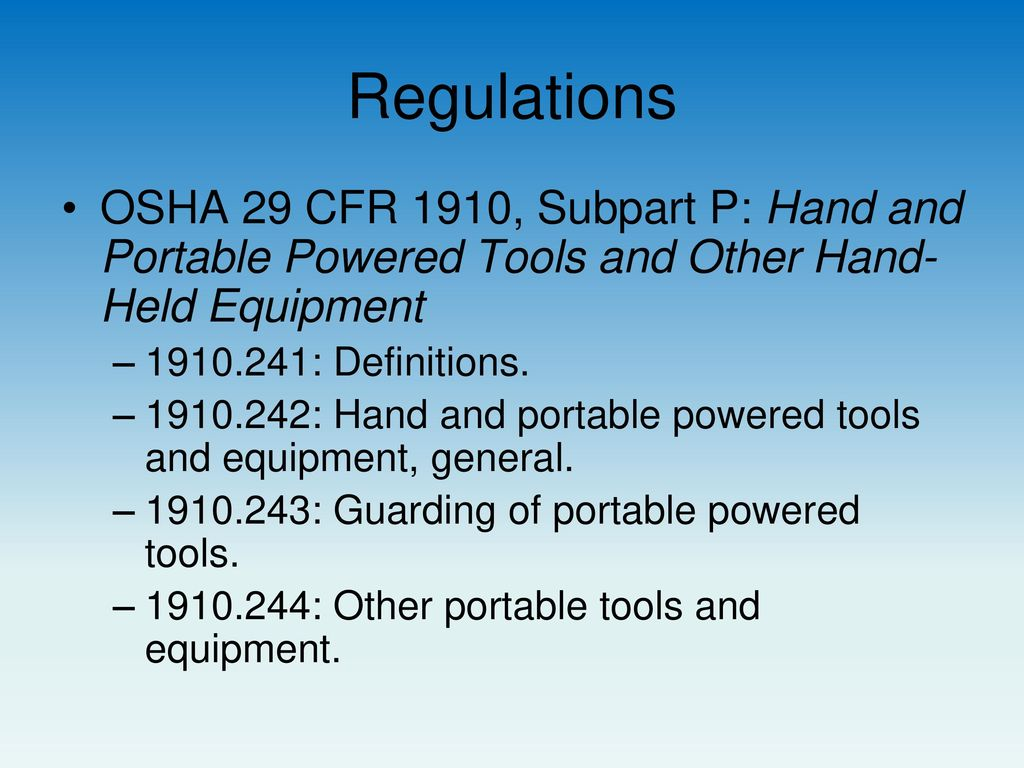 Hand and Portable Power Tools OSHE 112, Spring ppt video online download