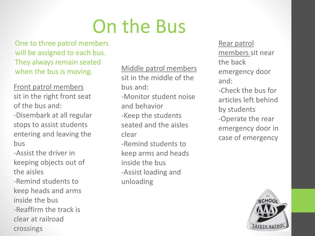 AAA School Safety Patrol - ppt download