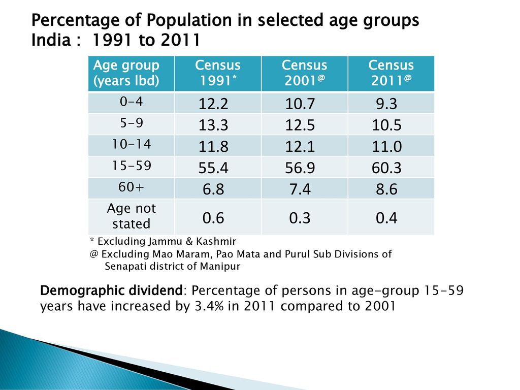 india population by age group
