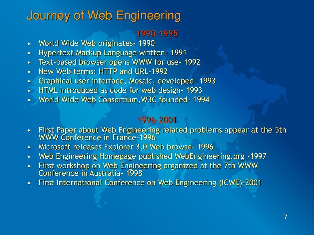 7 Journey Of Web Engineering World Wide
