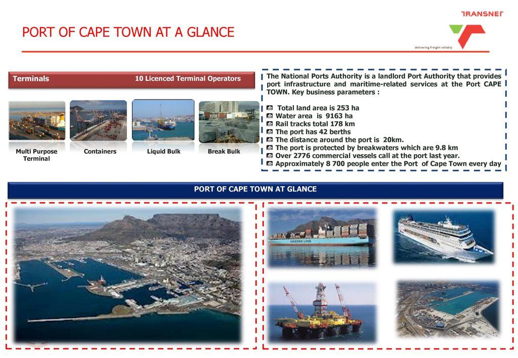 Port of Cape Town Development Plans - ppt download