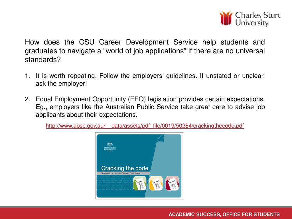 Writing a résumé Career Development Service June ppt download