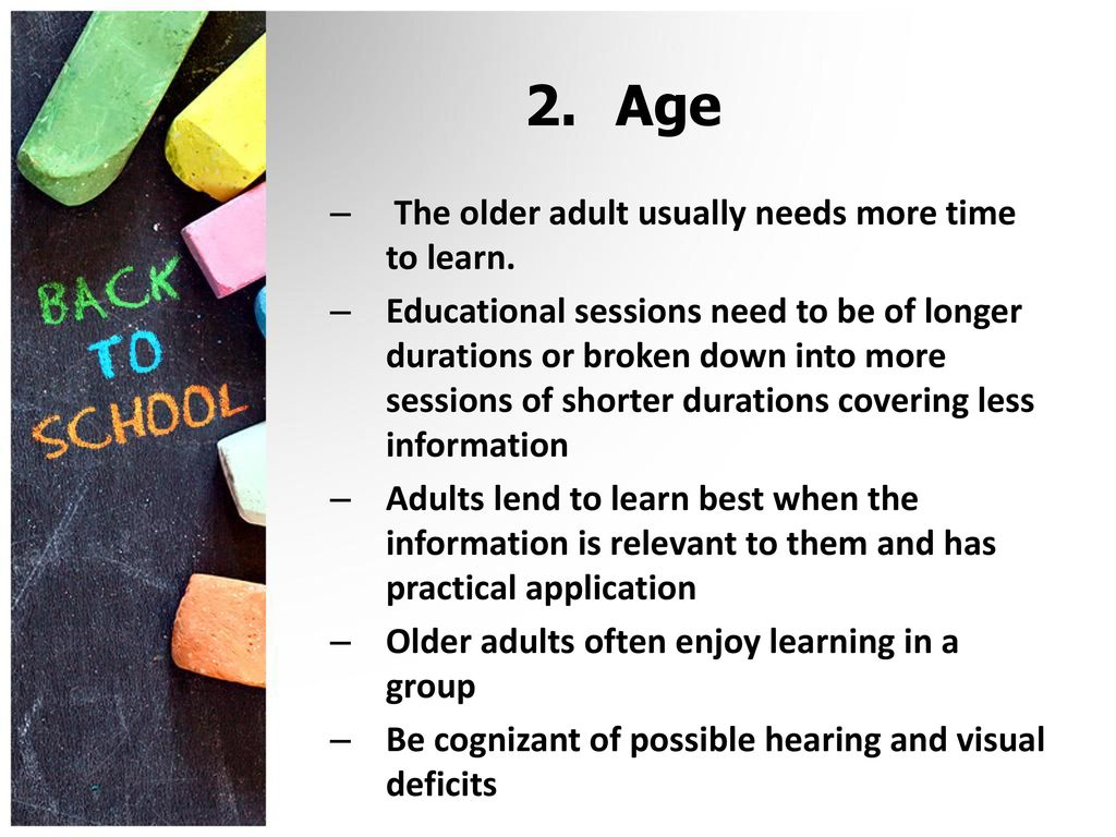 Opinion, How do older adults learn best can