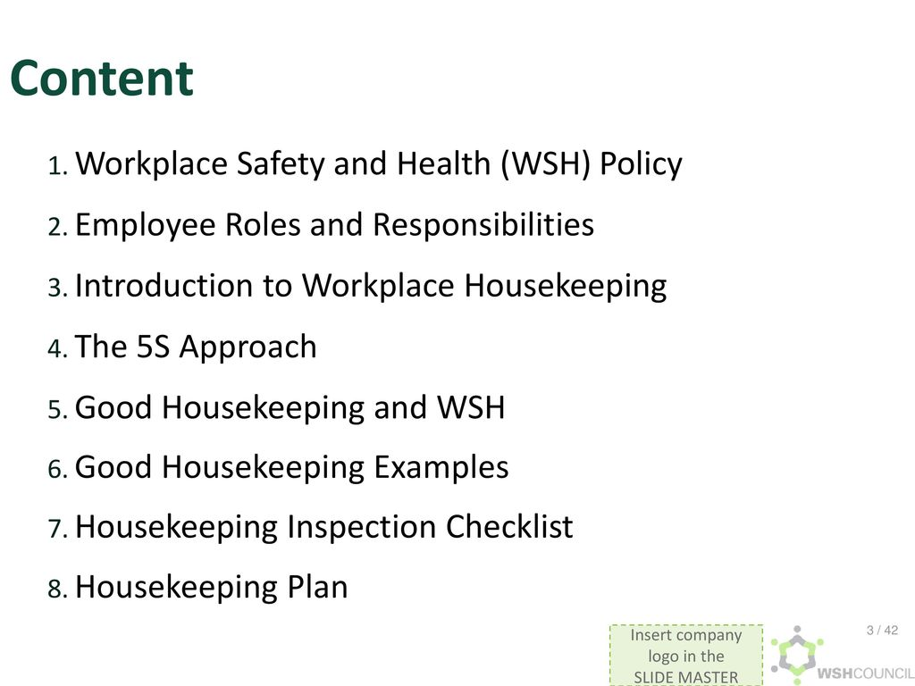 Training slides on Workplace Housekeeping - ppt download
