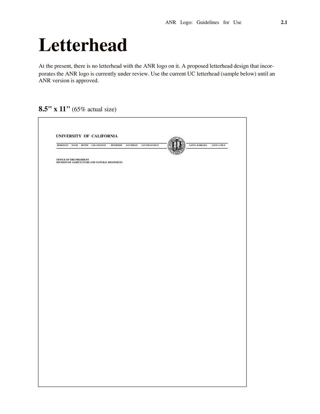 Anr logo guidelines for use university of california ppt download 14 letterhead university of california altavistaventures Gallery