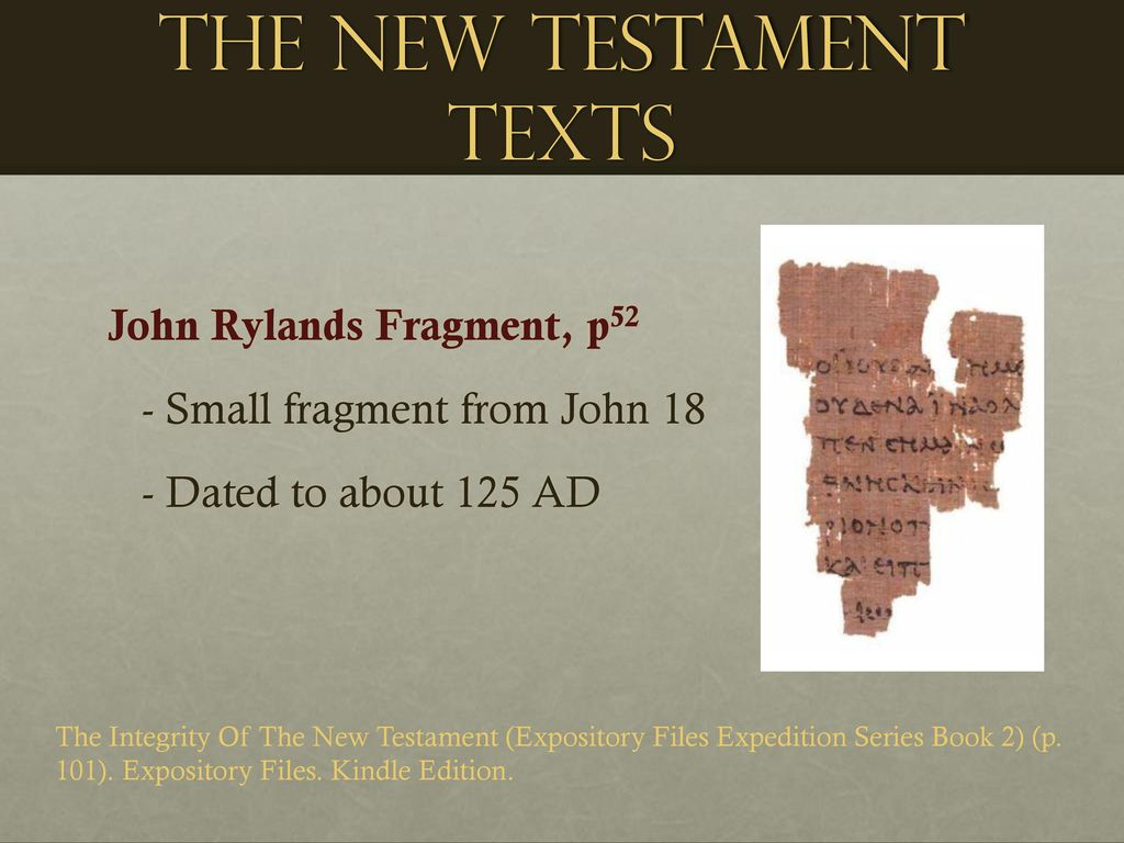 ... Expedition Series Book 2) (p. 101). Expository Files. Kindle Edition. The  New Testament Texts