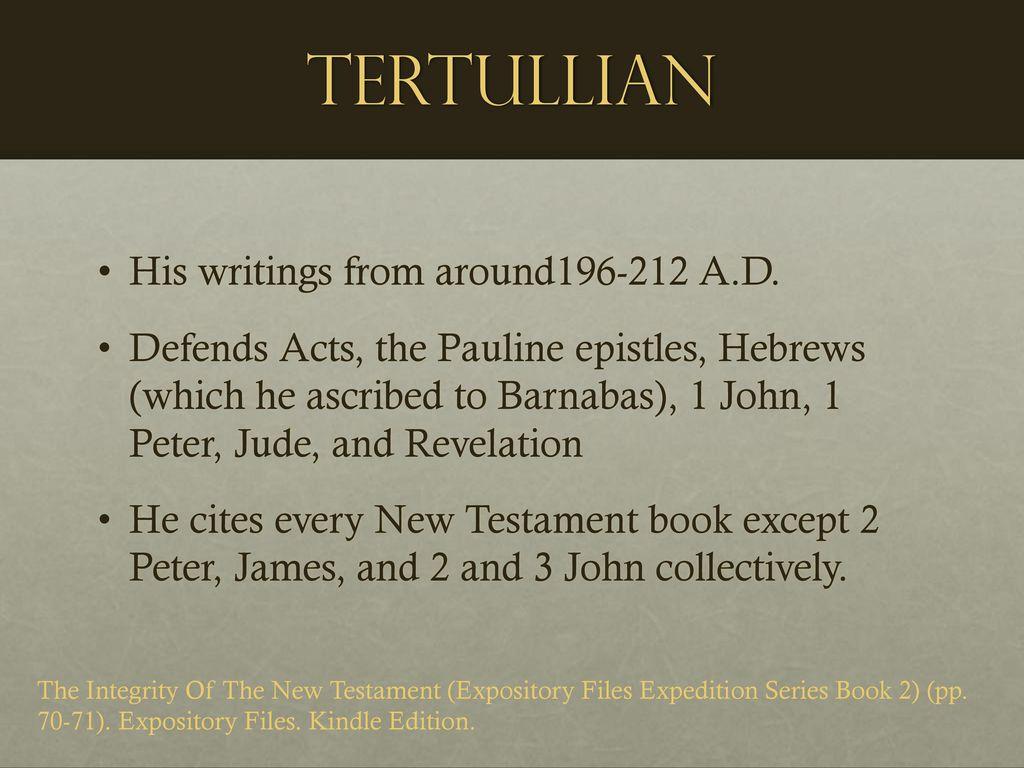 31 Tertullian ...