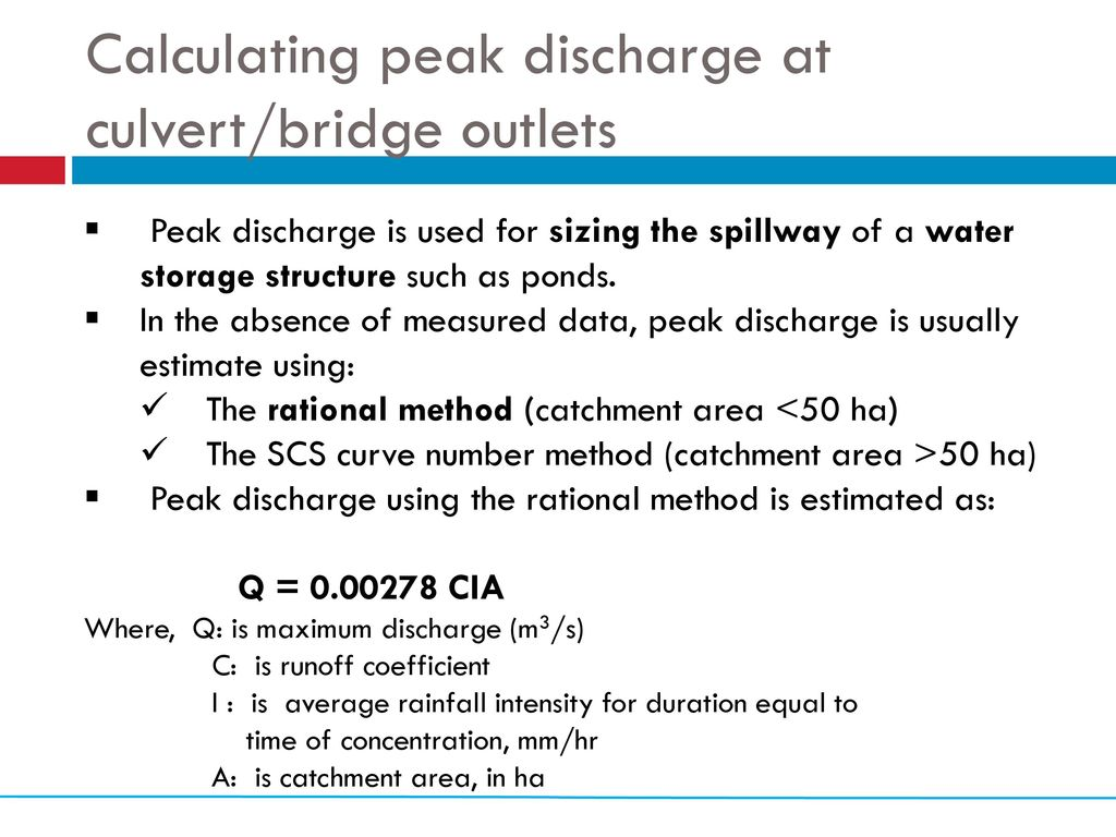 Calculating potential of water harvesting from road catchments - ppt