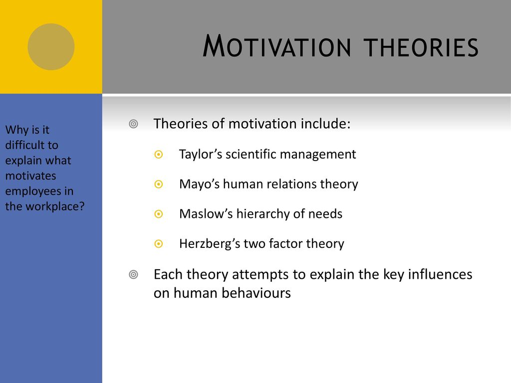 factors influencing employee motivation Influence their employees to self motivate and produce the best work possible there are two specific types of motivation: financial and non-financial i will focus on.