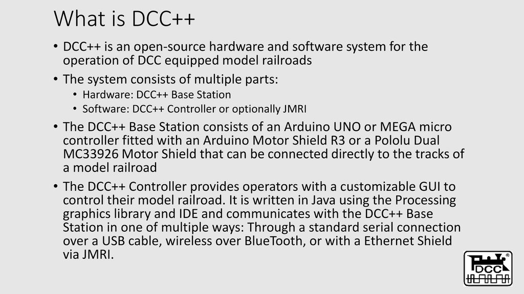 Using an Arduino to build a Dcc base station for your layout - ppt