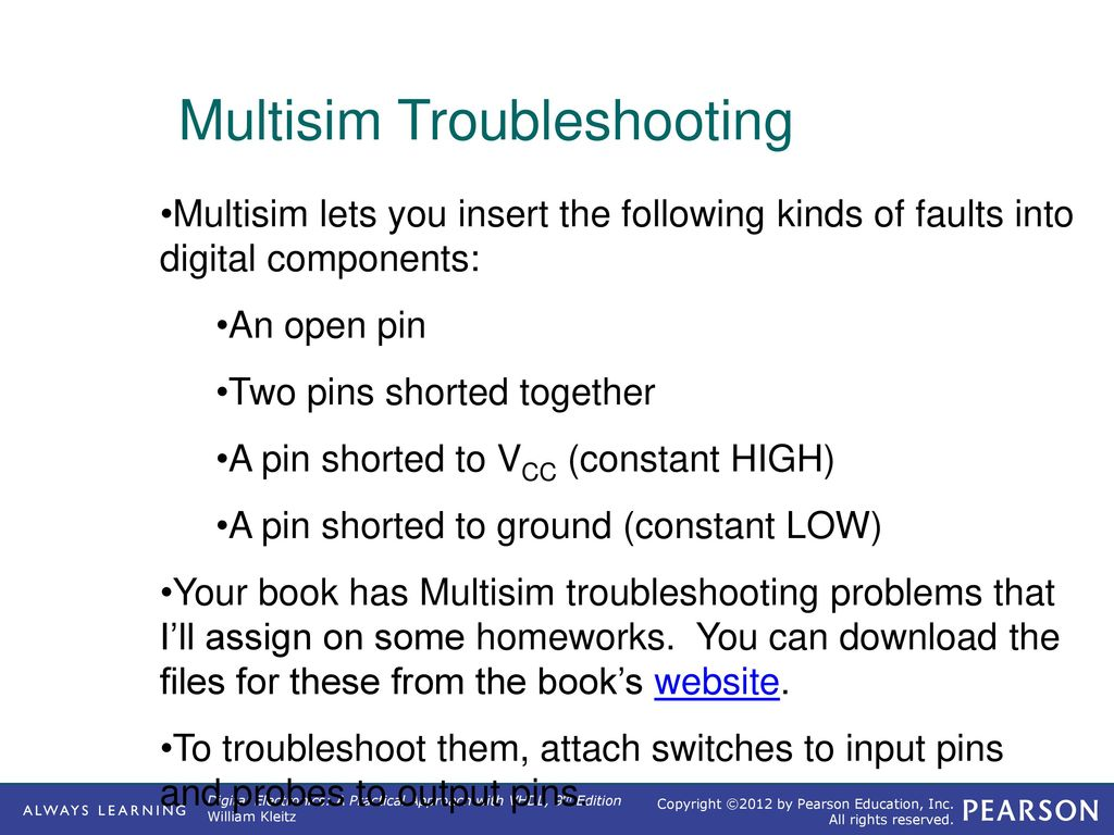 Digital Electronics Professor Nick Reeder Ppt Download Relay Switch Multisim Troubleshooting