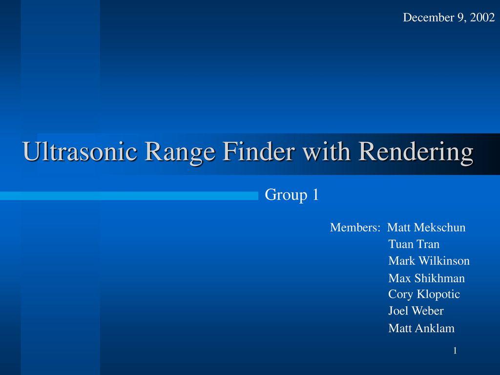 Ultrasonic Range Finder With Rendering Ppt Download 8051 Microcontroller Rangefinder Using Circuit Diagram