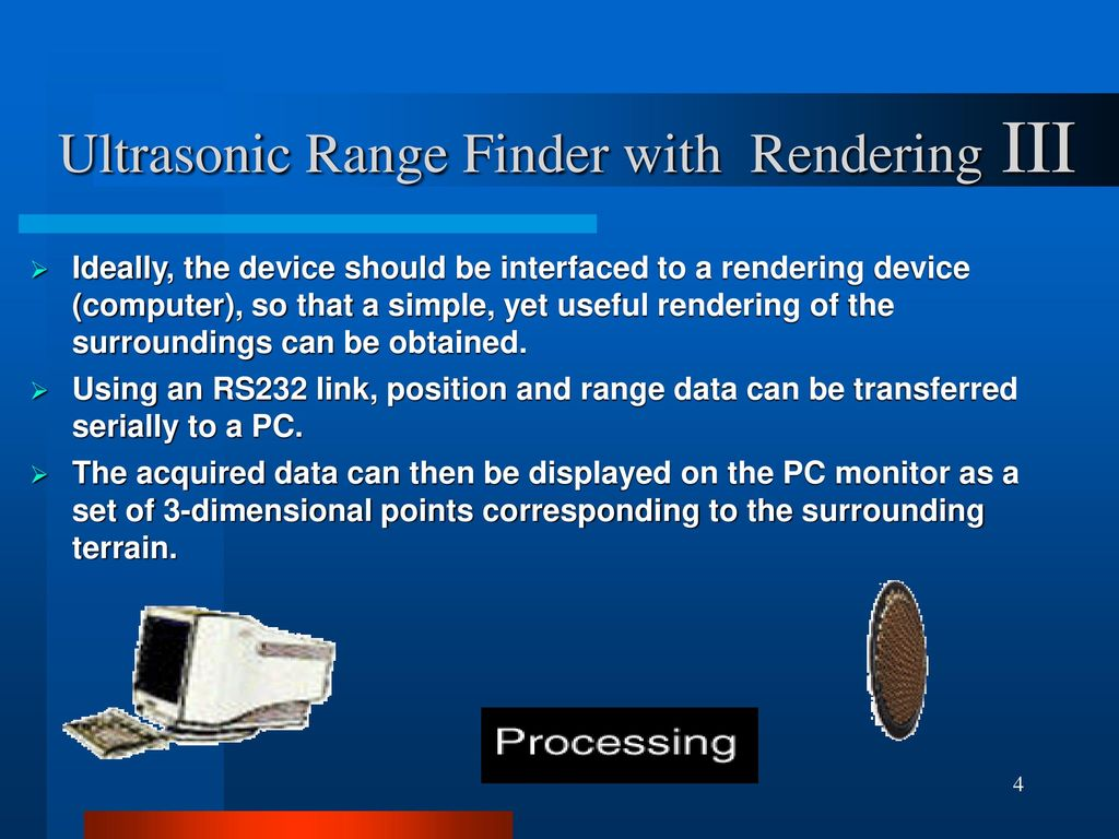 Ultrasonic Range Finder With Rendering Ppt Download 8051 Microcontroller Rangefinder Using Circuit Diagram Iii