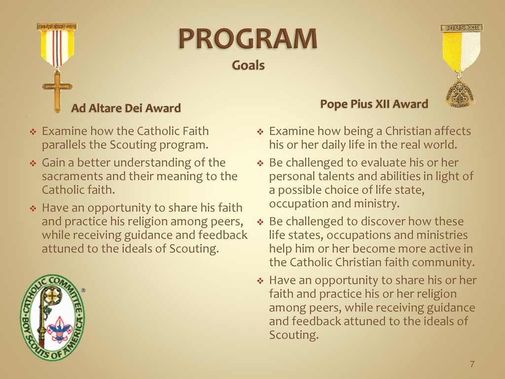 Ad Altare Dei Pope Pius Xii Religious Counselor Award Training Ppt Download