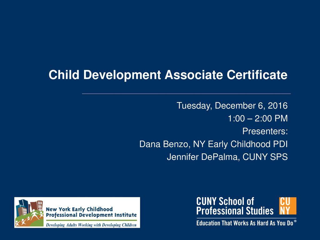 Child Development Associate Certificate Ppt Download