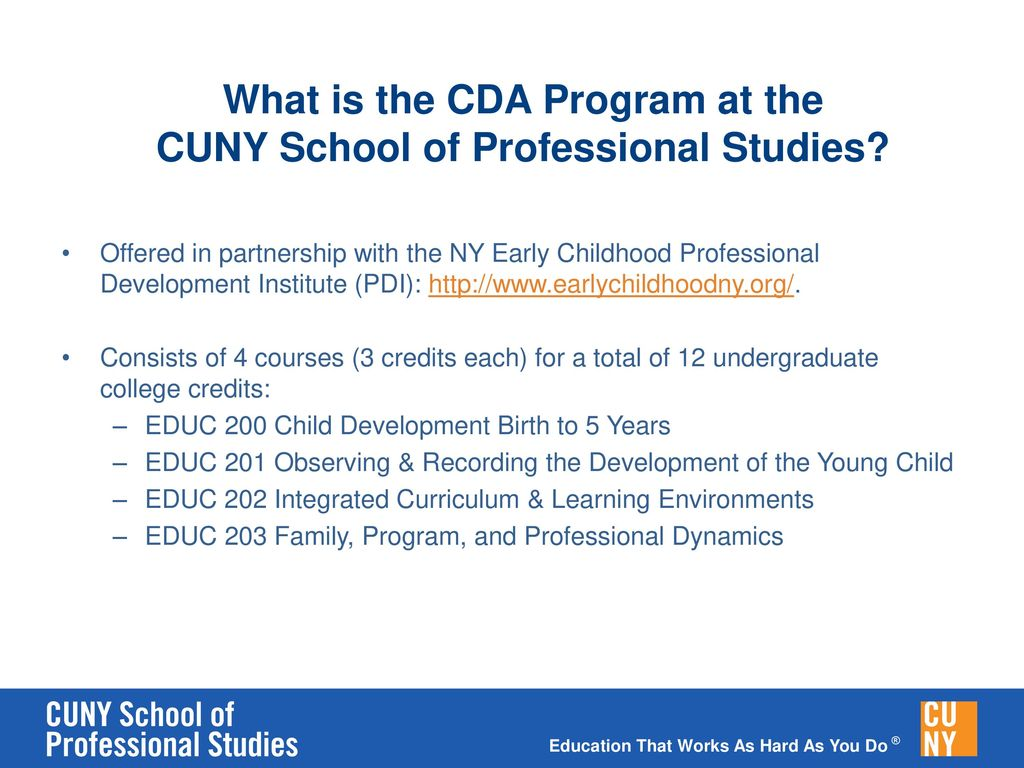 Child Development Associate Certificate Ppt Download