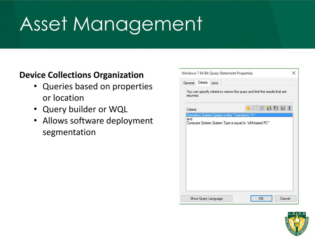 Leveraging SCCM: Brockport's Journey to Software Deployment and