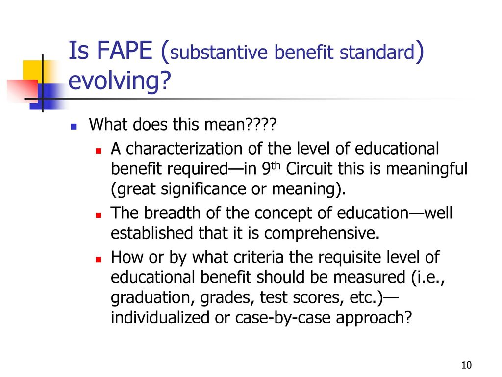 Rowley Fape Standard Some Vs Meaningful >> A Free Appropriate Public Education Fape And Fape Revisited Ppt