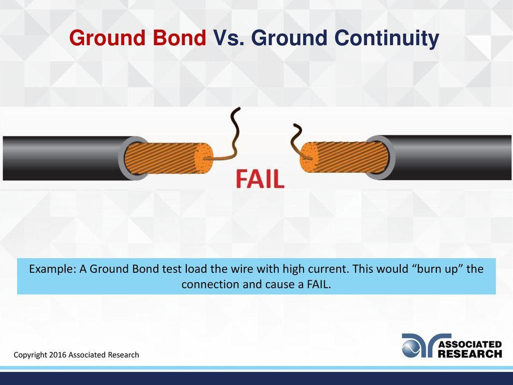 Ground Bond and Ground Continuity Testing - ppt download