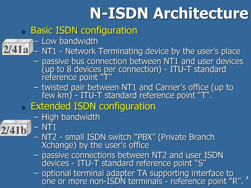 Lecture #10: ISDN Architecture and Services  - ppt video online download