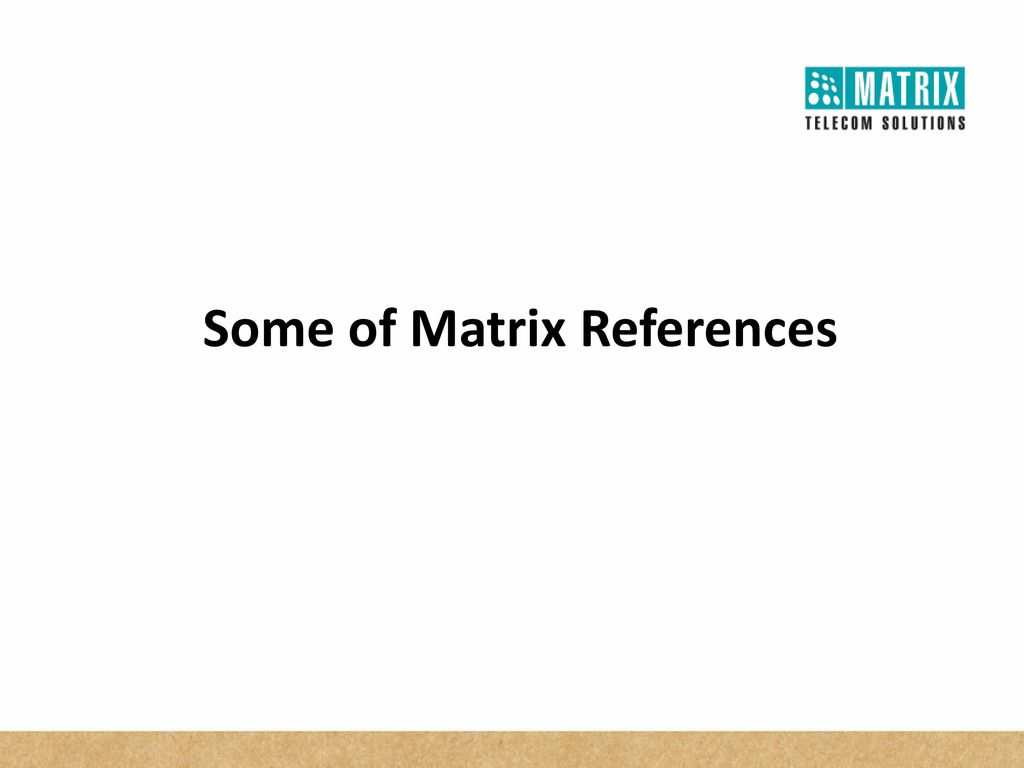 matrix references