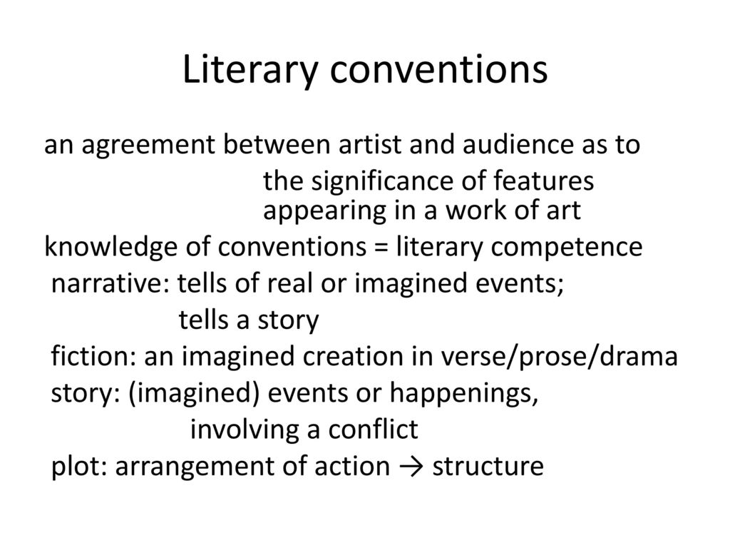 what is convention in literature