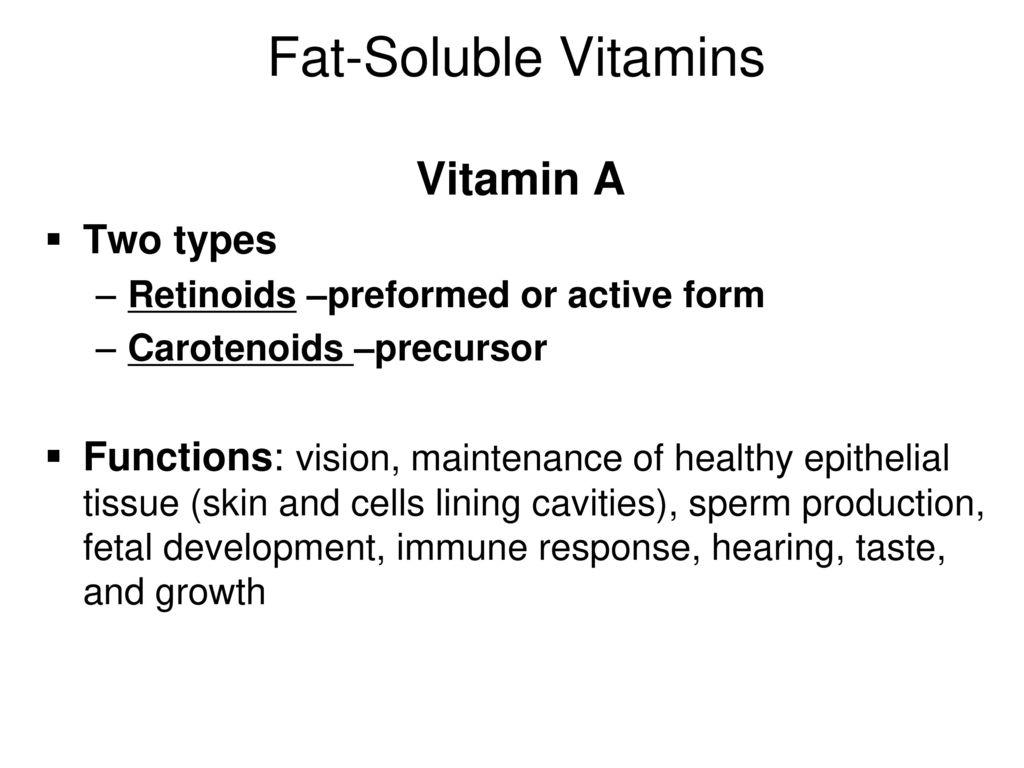 fat soluble vitamins module 5.1 a d e k. - ppt download