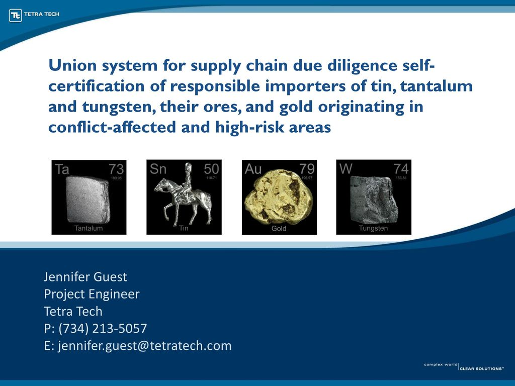 Union system for supply chain due diligence self