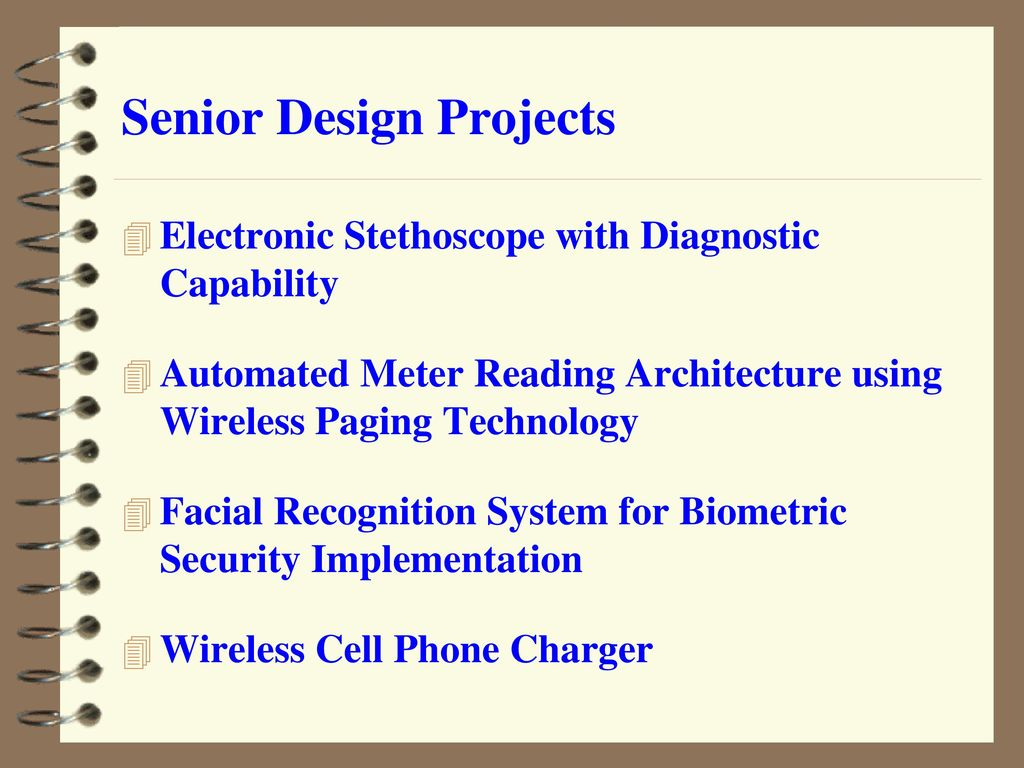 Faculty In The Department Of Electrical Engineering Ppt Download Electronics Project Electronic Stethoscope Designing Senior Design Projects