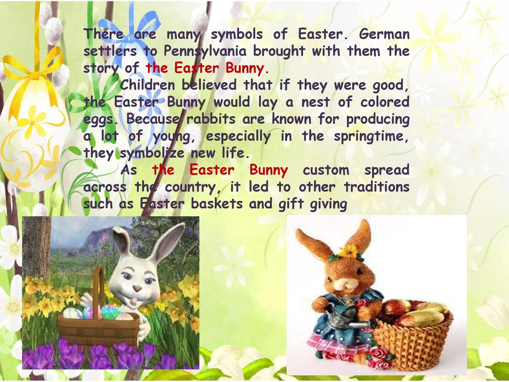 the easter story cultural tradition essay Easter is a religious holiday, but some of its customs, such as easter eggs, are likely linked to pagan traditions the egg, an ancient symbol of new life, has been associated with pagan festivals.