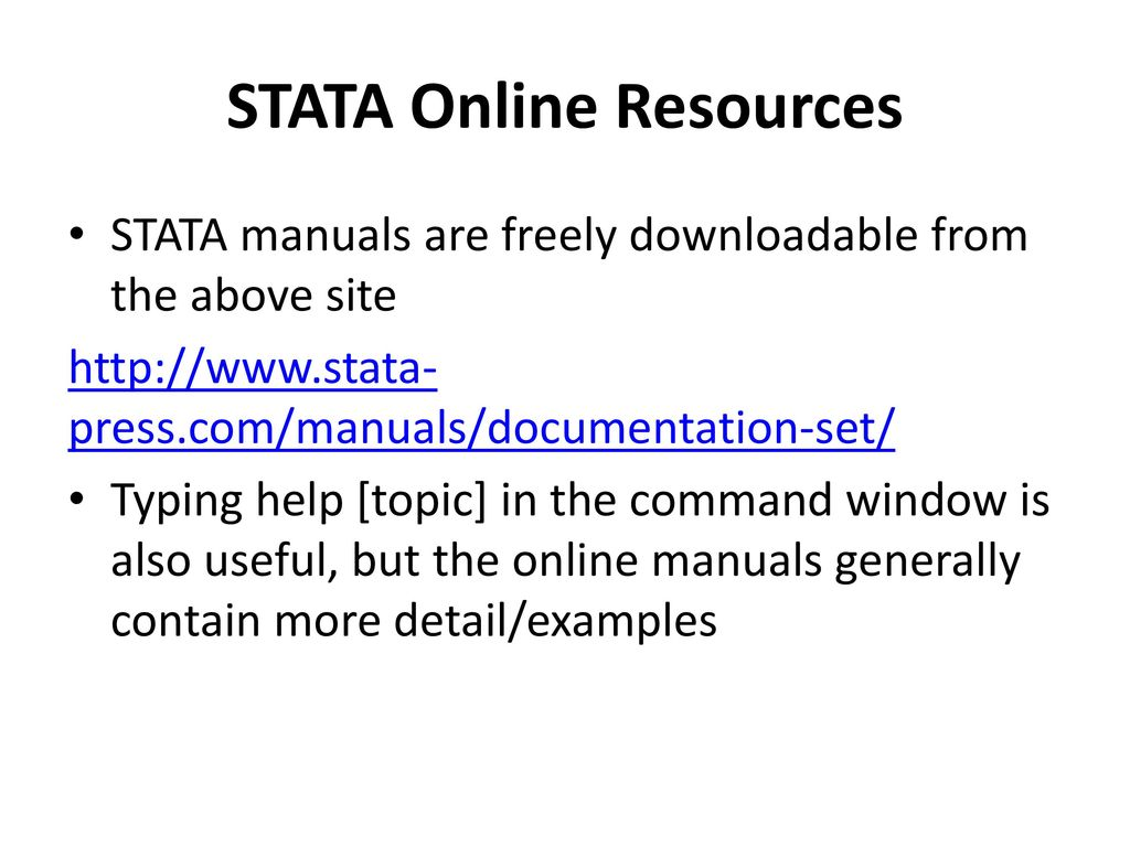 Tutorial on STATA September 30, ppt download