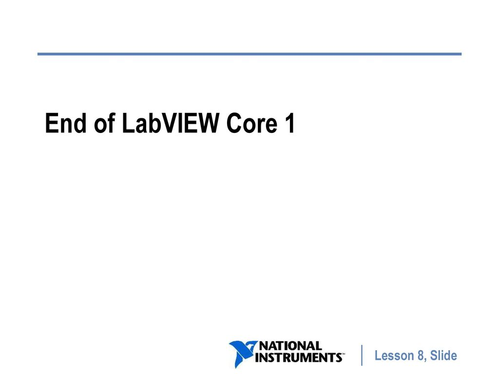 labview core 1 course manual national instruments