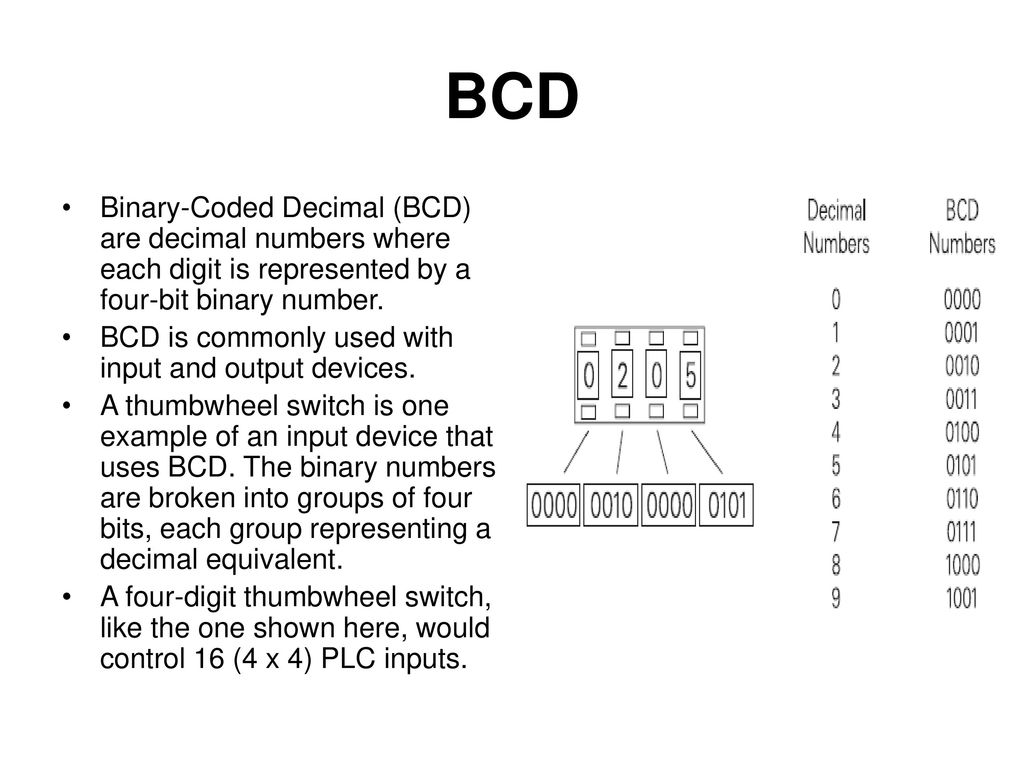 Programmable Logic Controller Ppt Video Online Download Bcd To Binary Coded Decimal Converter Data 12
