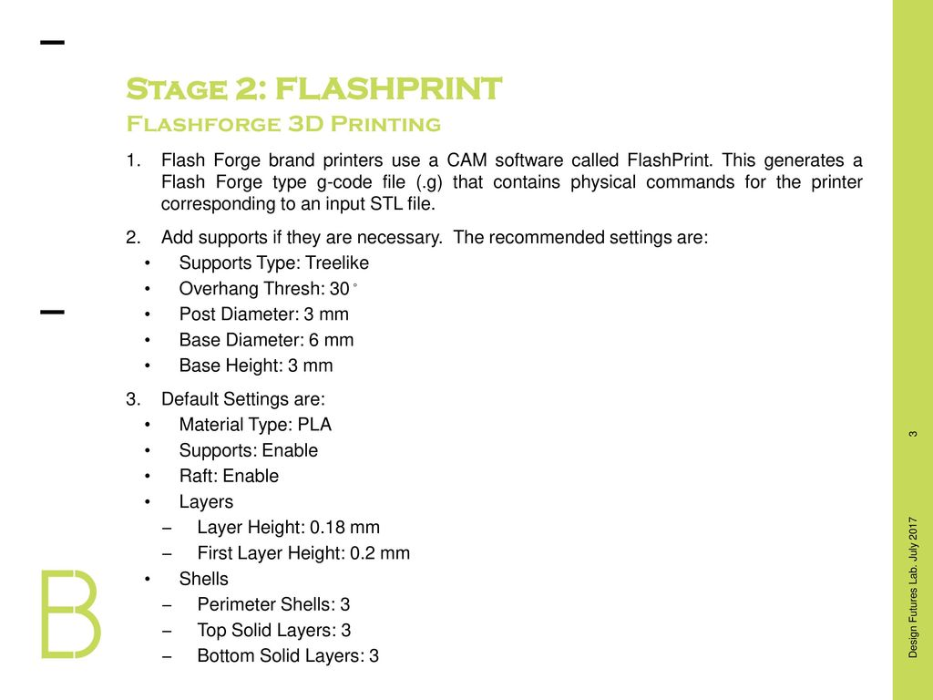 Stage 1: 3D MODELLING Flashforge 3D Printing - ppt video online download
