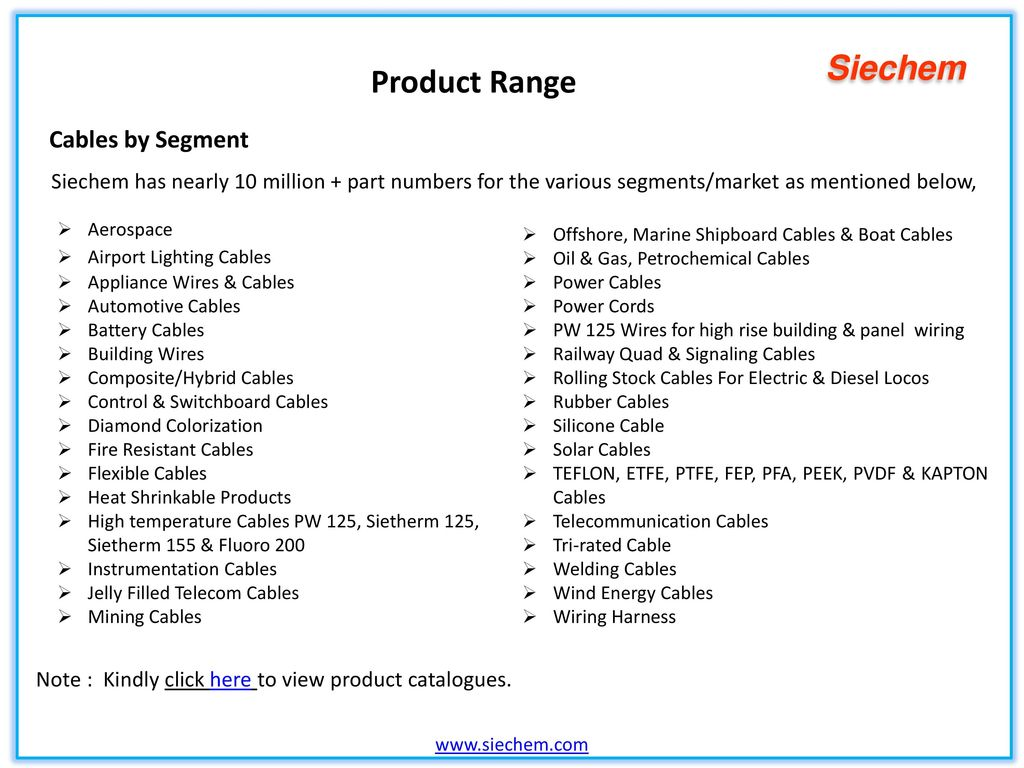 Indias No 1 Speciality Wires Cables Manufacturer Ppt Video Wiring Harness Industry In Chennai 10 Product