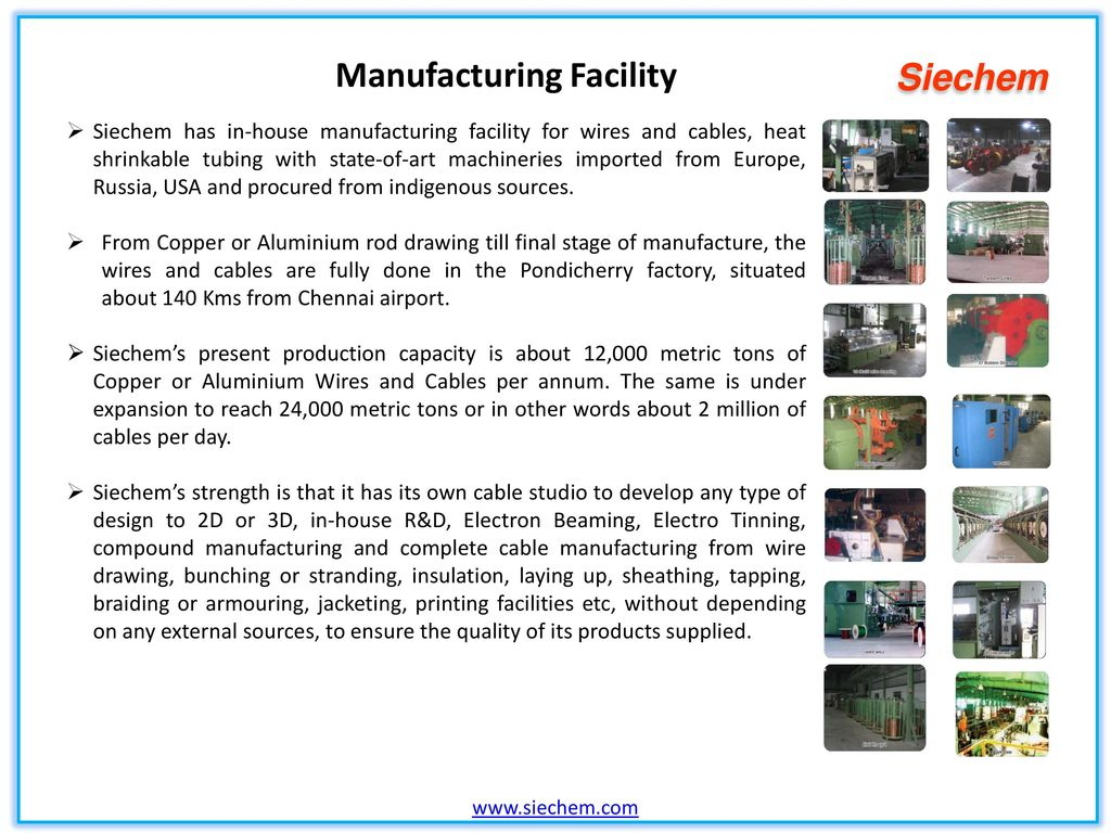 Indias No 1 Speciality Wires Cables Manufacturer Ppt Video Wiring Harness Industry In Chennai 6 Manufacturing Facility