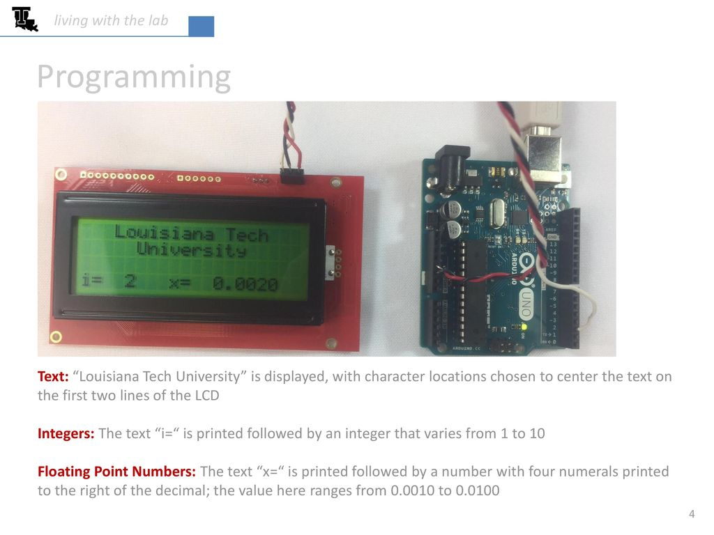 Using a SparkFun™ serial LCD with an Arduino - ppt video