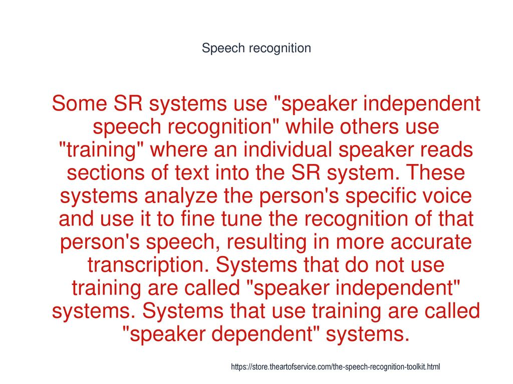 Speech Recognition - ppt download