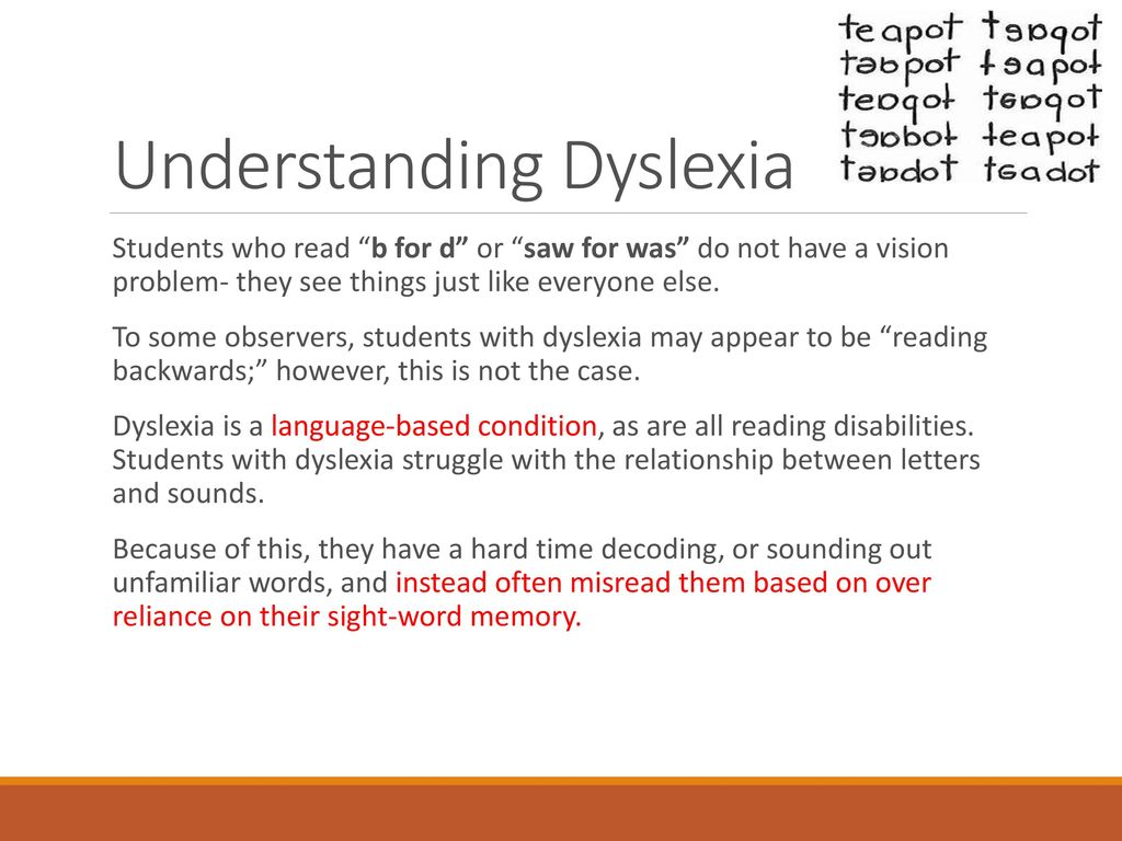Understanding Dyslexia And Reading >> We Don T Diagnose Dyslexia In The School System Ppt Download